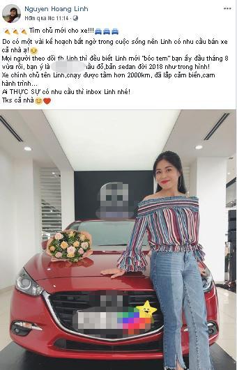 Trước khi hủy kết bạn với hôn phu, BTV Hoàng Linh đã rao bán ô tô mua chung với anh xã chưa đầy 3 tháng-4