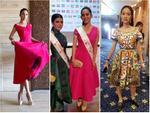 THẬT TUYỆT VỜI: Tiểu Vy đã lọt vào tầm ngắm của bà chủ tịch Miss World nhờ liên tục mặc váy hồng - xanh chuẩn phong thủy-13