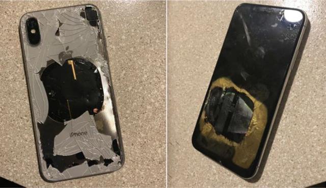 iPhone X phát nổ vì lỡ dại cắm sạc lúc nâng cấp iOS-1