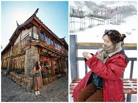 Quay clip 'chất phát ngất' giữa tuyết rơi, cô nàng 9X khiến giới trẻ mơ một lần đến núi Ngọc Long - thiên đường tuyết phủ quanh năm