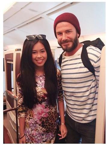 Thảo Tiên cùng mẹ gặp lại David Beckham tại Singapore-5