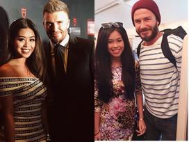 Thảo Tiên cùng mẹ gặp lại David Beckham tại Singapore