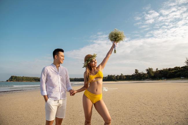 Thêm bộ ảnh cưới gây xôn xao khi cô dâu chịu chơi mặc bikini khoe trọn vòng 3 nóng bỏng-4