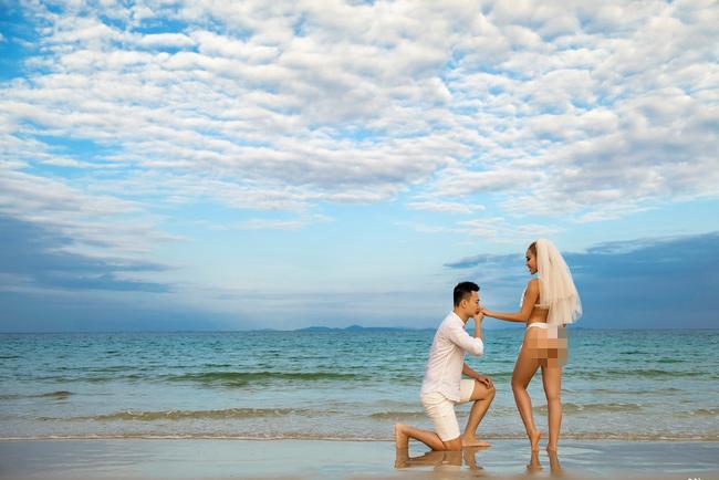 Thêm bộ ảnh cưới gây xôn xao khi cô dâu chịu chơi mặc bikini khoe trọn vòng 3 nóng bỏng-3