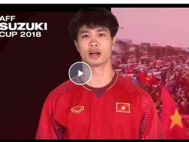 Công Phượng, Văn Lâm kêu gọi CĐV không đốt pháo sáng tại AFF Cup