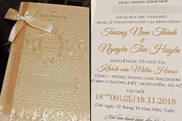 Thiệp cưới của Trương Nam Thành và người tình đại gia chính thức lộ diện-2