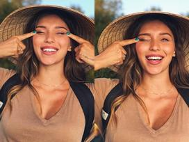 MC Ukraine xinh đẹp bị 'ném đá' khi đăng ảnh đội nón lá, làm mắt híp