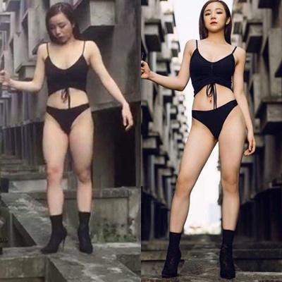 Giờ thì đến cả hotgirl phòng gym cũng bị nghiệp đoàn mạng bóc mẽ đôi chân đời thực ngắn ngủn như giò heo-6