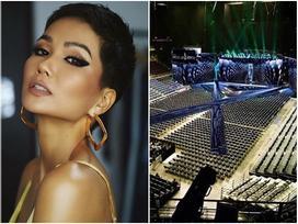 Rò rỉ hình ảnh sân khấu cực độc của Miss Universe 2018, fan lo lắng H'Hen Niê catwalk mỏi chân vẫn chưa hết đường băng