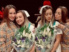 Phi Nhung hạnh phúc khoe tự tay trang điểm cho con gái trong lễ tốt nghiệp tại Mỹ