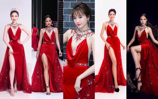 Những lần đụng độ váy áo của Hari Won với mỹ nhân Việt, ai đẹp hơn ai?-1