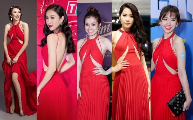 Những lần đụng độ váy áo của Hari Won với mỹ nhân Việt, ai đẹp hơn ai?-2