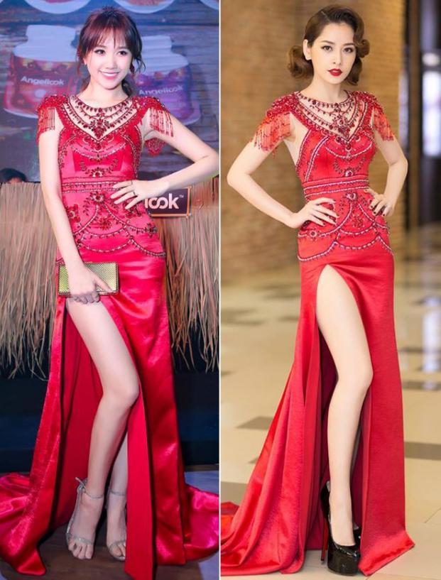 Những lần đụng độ váy áo của Hari Won với mỹ nhân Việt, ai đẹp hơn ai?-4