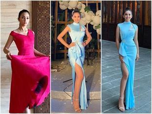 THẬT TUYỆT VỜI: Tiểu Vy đã lọt vào tầm ngắm của bà chủ tịch Miss World nhờ liên tục mặc váy hồng - xanh chuẩn phong thủy