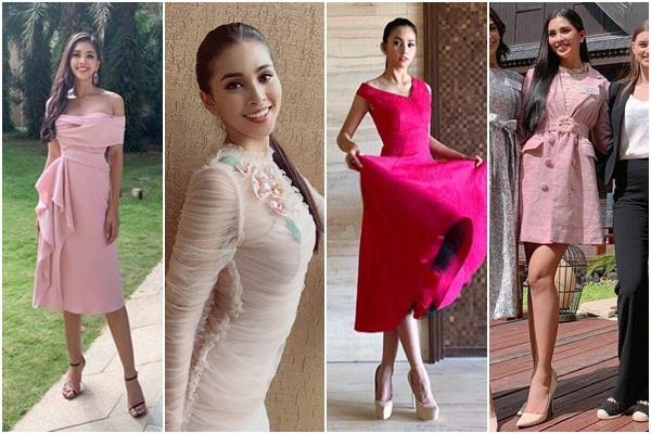 THẬT TUYỆT VỜI: Tiểu Vy đã lọt vào tầm ngắm của bà chủ tịch Miss World nhờ liên tục mặc váy hồng - xanh chuẩn phong thủy-6