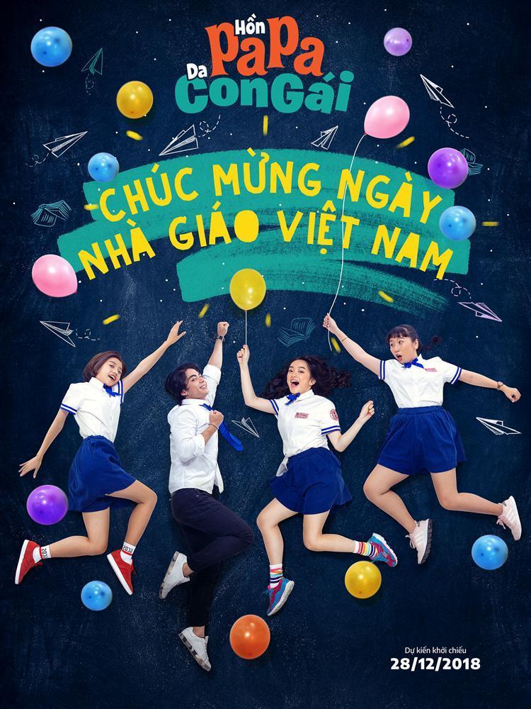 Thái Hòa, Kaity Nguyễn và Trang Hý cùng diện đồng phục học sinh mừng ngày 20/11-3