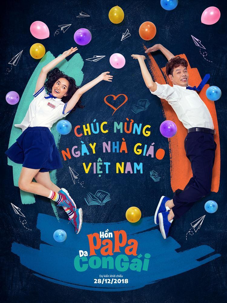 Thái Hòa, Kaity Nguyễn và Trang Hý cùng diện đồng phục học sinh mừng ngày 20/11-4