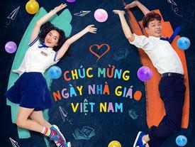 Thái Hòa, Kaity Nguyễn và Trang Hý cùng diện đồng phục học sinh mừng ngày 20/11
