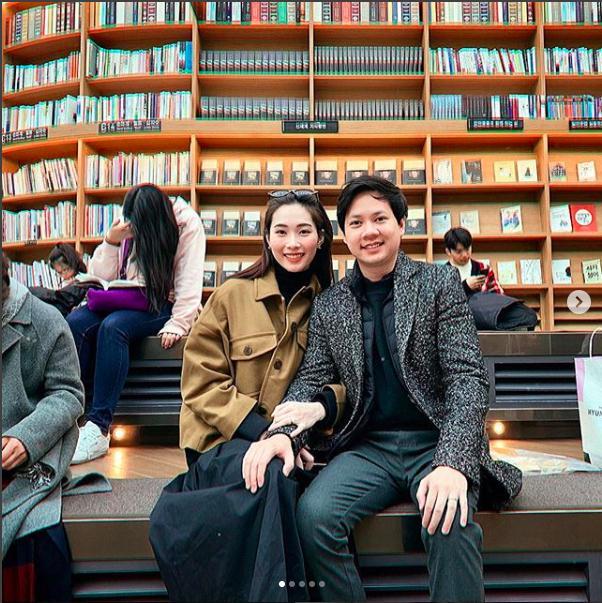Đặng Thu Thảo khoe loạt ảnh đẹp cùng ông xã đại gia tình tứ tại Hàn Quốc-1