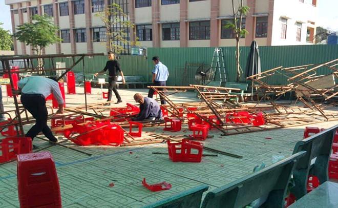 25 học sinh ở Sài Gòn bị thương khi giàn giáo đổ sập ở sân trường-1