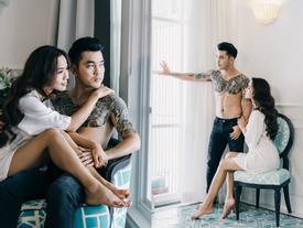 Ưng Hoàng Phúc cởi trần khoe hình xăm cực chất trong bộ ảnh cưới cùng bà xã Kim Cương