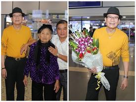 Cụ bà 90 tuổi ra tận sân bay đón 'phượng hoàng nhạc Vàng', đòi mổ trâu thết đãi Tuấn Vũ