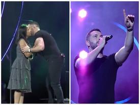 Hoàng tử tình ca Shayne Ward bất ngờ hôn fan nữ trên sân khấu