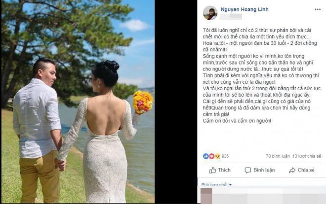 Tưởng gương vỡ lại lành sau lời xin lỗi của ông xã nhưng loạt phản ứng của MC Hoàng Linh chứng tỏ cô chưa nguôi giận?-1