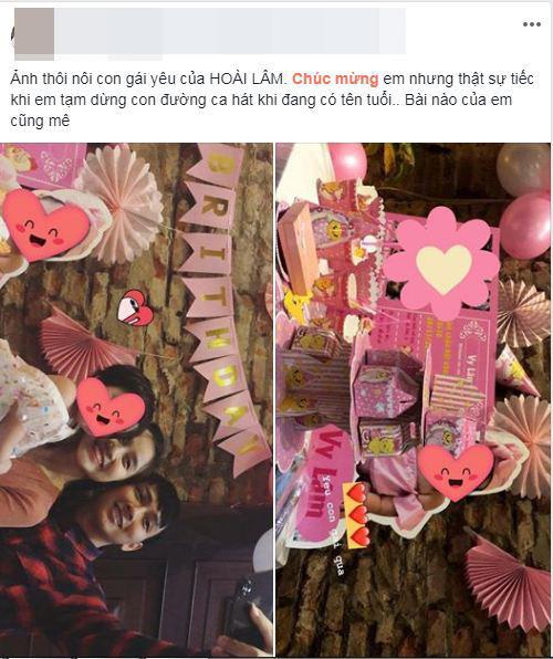 Mạng xã hội lại dấy lên tin đồn Hoài Lâm và bạn gái tổ chức tiệc thôi nôi cho con gái-2