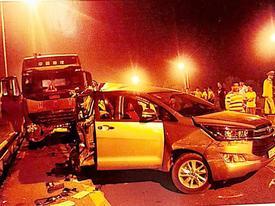 Kháng nghị hủy án vụ xe đầu kéo container đâm Innova lùi trên cao tốc
