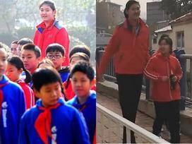 Bé gái khiến ai cũng phải ngước nhìn khi mới 11 tuổi đã sở hữu chiều cao hơn 2 mét