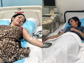 Giữa ồn ào 'tan vỡ hôn nhân vì người thứ 3', Diva Hồng Nhung lại nhập viện tay chằng chịt kim truyền