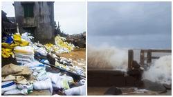 Ảnh hưởng của bão số 9 Usagi: Sóng biển cao từ 2-4m, người dân phải đi ngủ nhờ