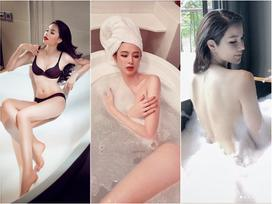 1001 kiểu khoe tắm bồn của các mỹ nhân Việt: người vẫn mặc nguyên đồ, kẻ cởi hết cho biết thế nào là sexy