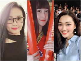 Hội bạn gái cầu thủ xinh đẹp đến sân Hàng Đẫy cổ vũ tuyển Việt Nam