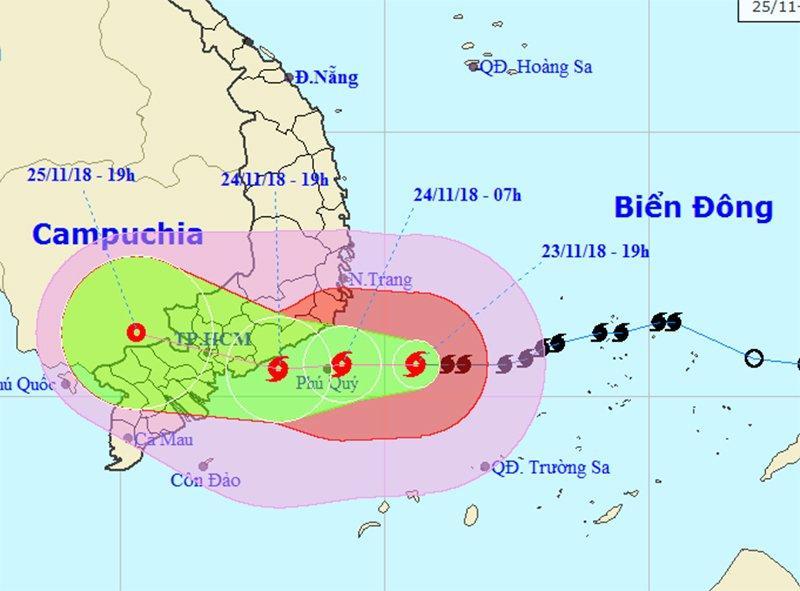 Bão số 9 giật cấp 13 áp sát Vũng Tàu - Bến Tre, sóng biển cao 7m-1