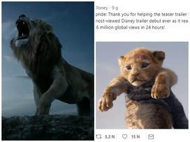 'The Lion King' lập kỷ lục trailer Disney có lượt xem cao nhất trong lịch sử