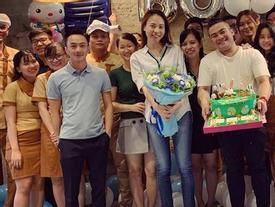 Đàm Thu Trang xúc động được Cường Đô La và bạn bè tổ chức mừng sinh nhật sớm