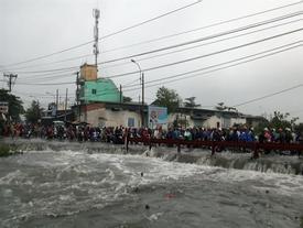 Bão số 9: Nam thanh niên bị nước cuốn trôi ở Sài Gòn