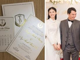 Công bố thiệp cưới giản dị không ngờ của Á hậu Thanh Tú và chồng đại gia