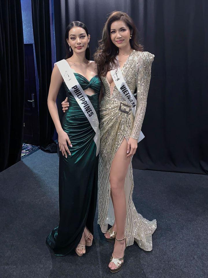 Chẳng ngại mặc lại váy vừa cho Hoa hậu Philippines mượn, Minh Tú chặt đẹp dàn thí sinh hoa hậu nhờ body chuẩn vệ nữ-1