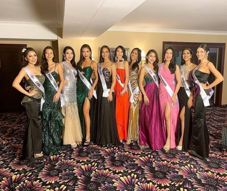 Chẳng ngại mặc lại váy vừa cho Hoa hậu Philippines mượn, Minh Tú chặt đẹp dàn thí sinh hoa hậu nhờ body chuẩn vệ nữ-5
