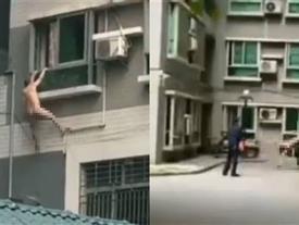 Đang 'ân ái' thì chồng của nhân tình về nhà, người đàn ông trần như nhộng đánh đu ngoài cửa sổ