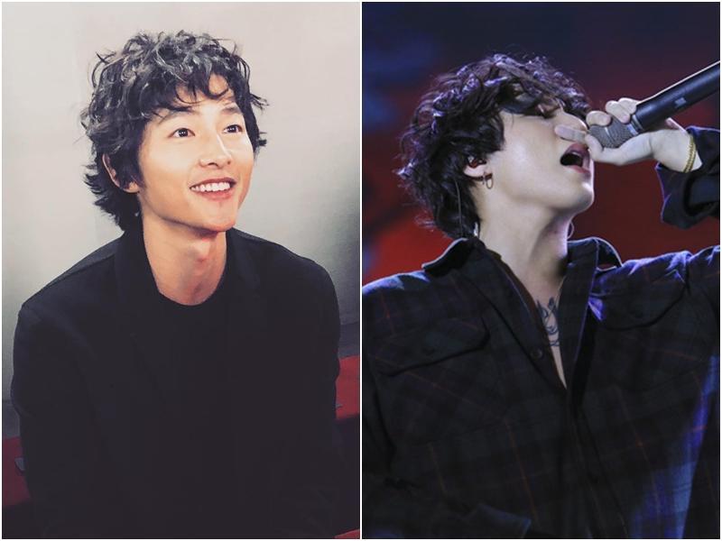 Song Joong Ki mặt gầy vêu, má tóp khi để kiểu tóc xù mì style bà thím giống Sơn Tùng M-TP, Tiên Tiên-8