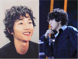 Song Joong Ki mặt gầy vêu, má tóp khi để kiểu tóc xù mì style 'bà thím' giống Sơn Tùng M-TP, Tiên Tiên