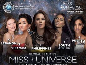 TIN VUI sát giờ lên đường: H'Hen Niê được dự đoán là gương mặt đăng quang Á hậu 2 Miss Universe 2018