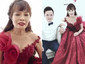 Khoe mặc váy cưới lần 2, cô dâu 61 tuổi bị soi khoảnh khắc già nua khác xa ảnh 'tự sướng' dù đập cả đống tiền vào người làm đẹp