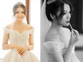 Bất ngờ lên xe hoa ở tuổi 18, 'thiên thần áo trắng Bắc Ninh' tung loạt ảnh cưới xinh đẹp, lần đầu chia sẻ về ông xã hơn 7 tuổi