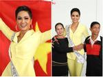 H'Hen Niê giương cao quốc kỳ, chào cha mẹ và đồng bào Ê Đê lên đường chinh chiến Miss Universe 2018