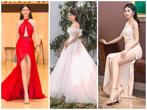Váy cưới thì kín đáo thế thôi, bình thường á hậu Thanh Tú cực kỳ thích váy xẻ đùi cao tít tắp khoe đôi chân cực phẩm